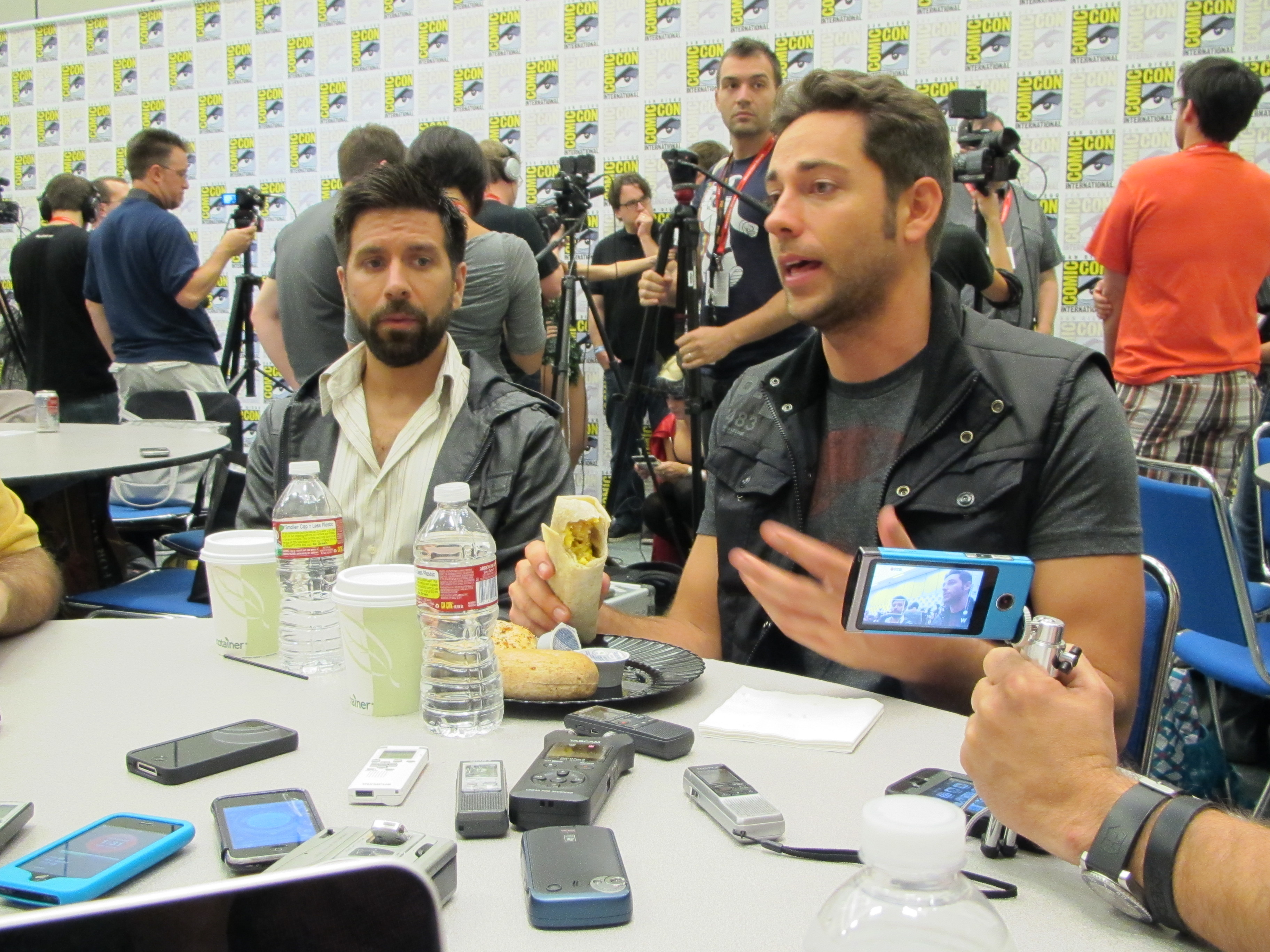 Chuck At Comic Con 2011 Interview With Zachary Levi And Joshua Gomez Tune in and don't miss the movie in theaters tomorrow! chuck at comic con 2011 interview with zachary levi and joshua gomez